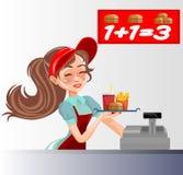 Snel voedselverkoper royalty-vrije illustratie
