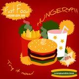 Snel voedselvlieger Editable voor Uw Ontwerp Royalty-vrije Stock Foto