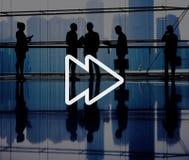 Snel Voorwaarts Muziek Audioconcept Van verschillende media stock afbeelding