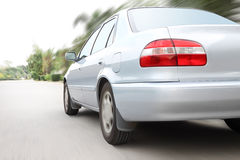Snelheid die een auto drijven Royalty-vrije Stock Afbeeldingen