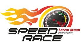 Snelheid die Logo Event rennen stock illustratie