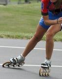Snelheid gealigneerde het Schaatsen samenvatting van vleten en schaatser royalty-vrije stock foto