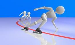 Snelheid het schaatsen kort spoor Stock Afbeelding