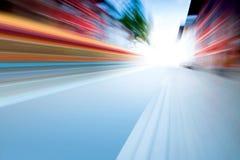 Snelheid op weg stock illustratie