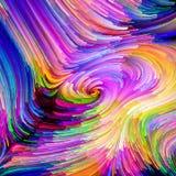 Snelheid van Vloeibare Kleur stock afbeeldingen