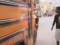 Snelheidsbeeld, schoolbus royalty-vrije stock foto's