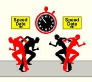 Snelheidsdatum Stock Foto's