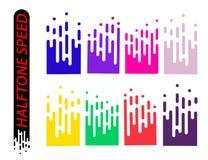 Snelheidslijnen geplaatst die op wit worden geïsoleerd Motieeffect illustratie Stock Foto's