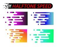Snelheidslijnen geplaatst die op wit worden geïsoleerd Motieeffect illustratie Royalty-vrije Stock Afbeelding