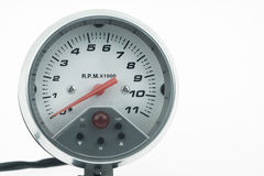 Snelheidsmeter in auto voor maatregel de snelheid Royalty-vrije Stock Foto's