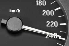Snelheidsmeter bij 240 km/h Royalty-vrije Stock Foto