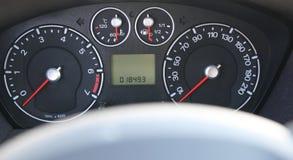 Snelheidsmeter en tachometer Stock Foto
