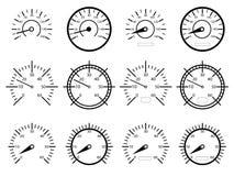 Snelheidsmeters Stock Afbeelding