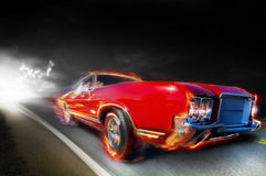 Snelle auto Royalty-vrije Stock Afbeelding