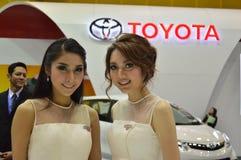 Snelle Autoshow2014 BANGKOK, THAILAND 4,2014 Juli Niet geïdentificeerd die model bij Cabine Toyota, Bitec-Overeenkomst Hall Bangn Royalty-vrije Stock Fotografie