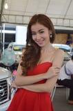 Snelle Autoshow2014 BANGKOK, THAILAND 4,2014 Juli Niet geïdentificeerd model stelde gebruikte auto's, Bitec-Overeenkomst Hall Ban Stock Foto's