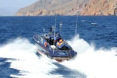 Snelle boot van de Spaanse Douanedienst royalty-vrije stock foto