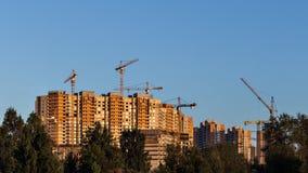 Snelle bouw van nieuwe districten Royalty-vrije Stock Fotografie