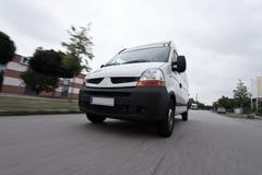 Snelle leveringsbestelwagen stock afbeelding