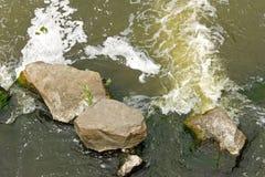 Snelle schuimende rivierstroom Stock Afbeelding