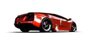 Snelle sportwagen. 3D illustratie Stock Afbeelding