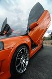 Snelle sportwagen stock afbeeldingen