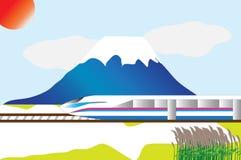 Snelle trein Stock Afbeeldingen