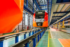 Snelle trein Royalty-vrije Stock Foto's