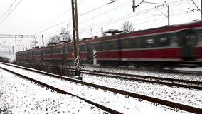 Snelle trein stock videobeelden