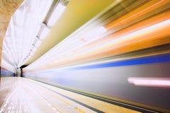 Snelle trein in metro royalty-vrije stock foto
