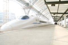 Snelle trein in motie Royalty-vrije Stock Afbeelding