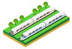 Snelle trein Vector isometrische illustratie van een Snelle Trein Royalty-vrije Stock Fotografie