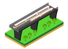 Snelle trein Vector isometrische illustratie van een Snelle Trein Stock Foto