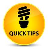 Snelle uiteinden (bolpictogram) elegante gele ronde knoop stock illustratie