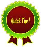 SNELLE UITEINDEN op rood en groen rond lintkenteken stock illustratie