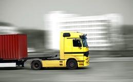 Snelle vrachtwagen Stock Foto's