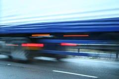 Snelle Vrachtwagen Stock Afbeelding