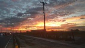 Snelle Zonsondergang Stock Afbeeldingen