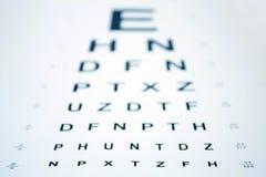Snellen Augen-Diagramm stockfoto