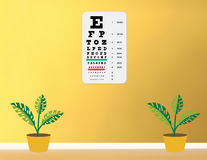 Snellen Eye chart Stock Photos