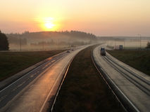 snelweg Stock Afbeelding