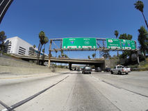 Snelweg de van de binnenstad van Los Angeles Royalty-vrije Stock Foto