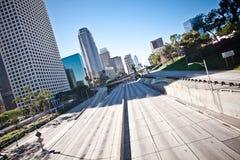 Snelweg de van de binnenstad van Los Angeles Californië Stock Foto