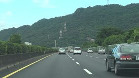 Snelweg die Taiwan Naar het noorden, POV, 4K drijven stock video