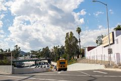 snelweg 101 in Los Angeles Royalty-vrije Stock Foto's