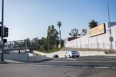 snelweg 101 in Los Angeles Royalty-vrije Stock Afbeelding