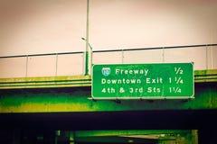 Snelweg 10 teken in Los Angeles van de binnenstad Royalty-vrije Stock Foto's