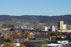 Snelwegbrug in Drammen stock foto