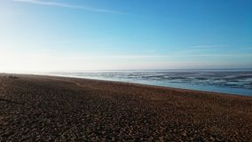 Snettisham. Frosty morning at Snettisham when the tide is out Royalty Free Stock Image