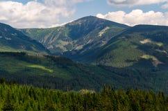 Snezka, самая высокая вершина в чехии Стоковые Изображения RF